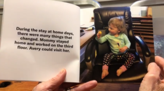 A homemade children's book about the pandemic