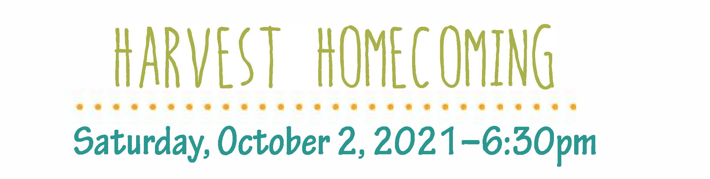 harvest homecoming header